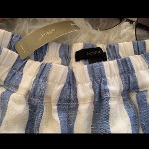 J. Crew Pants - J Crew white striped linen pants
